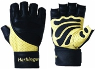 Harbinger - Big Grip II with Wrist Wrap Lifting Gloves - Extra Large Natural/Black - 1 Pair by Harbinger