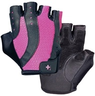Image of Harbinger - Women's Pro Lifting Gloves - Large Black/Pink - 1 Pair