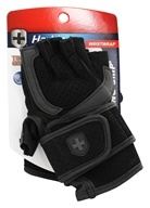 Harbinger - Training Grip WristWrap Lifting Gloves - Large Black/Gray - 1 Pair