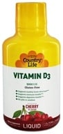 Country Life - Liquid Vitamin D3 Delicious Cherry Flavor 5000 IU - 16 oz., from category: Vitamins & Minerals