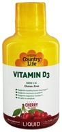 Country Life - Liquid Vitamin D3 Delicious Cherry Flavor 5000 IU - 16 oz. - $11.99