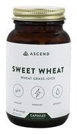 Brightcore Nutrition - Sweet Wheat Organic Wheat Grass Juice Powder - 60 Vegetarian Capsules - $22.99