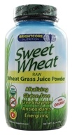 Brightcore Nutrition - Sweet Wheat Organic Wheat Grass Juice Powder - 90 Grams, from category: Nutritional Supplements