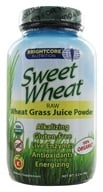 Brightcore Nutrition - Sweet Wheat Organic Wheat Grass Juice Powder - 90 Grams
