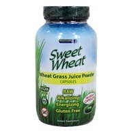Image of Brightcore Nutrition - Sweet Wheat Organic Wheat Grass Juice Powder - 180 Vegetarian Capsules