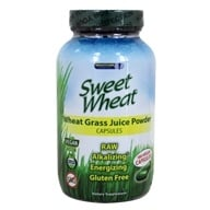Brightcore Nutrition - Sweet Wheat Organic Wheat Grass Juice Powder - 180 Vegetarian Capsules, from category: Nutritional Supplements