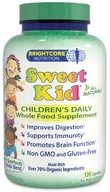 Brightcore Nutrition - Sweet Kid Organic Wheat Grass Juice Powder - 120 Capsules - $27.29
