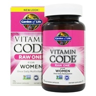Garden of Life - Vitamin Code RAW One Multi-Vitamin For Women - 75 Vegetarian Capsules (658010114035)