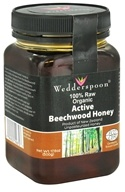 Image of Wedderspoon Organic - Beechwood Honey 100% Raw Organic - 17.6 oz.