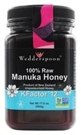 Image of Wedderspoon Organic - Manuka Honey Unpasteurized Active 12+ - 17.6 oz.