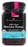 Wedderspoon Organic - Manuka Honey Unpasteurized Active 12+ - 17.6 oz. by Wedderspoon Organic