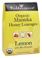 Image of Wedderspoon Organic - Honey Lozenges Manuka with Bee Propolis Lemon - 4 oz.