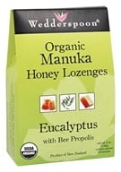 Wedderspoon Organic - Organic Manuka Honey Lozenges Eucalyptus with Bee Propolis - 4 oz.