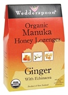 Wedderspoon Organic - Honey Lozenges Manuka with Echinacea Ginger - 4 oz. (094922669384)