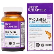 New Chapter - Wholemega 100% Wild Alaskan Salmon Omega-Rich Fish Oil For Heart Health 500 mg. - 90 Softgels