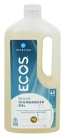 Earth Friendly - ECOS Wave Dishwasher Gel Free & Clear - 40 oz.
