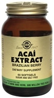 Solgar - Acai Extract Brazilian Berry - 60 Softgels (033984000476)