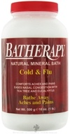 Queen Helene - Batherapy Natural Mineral Bath Cold & Flu Salt - 16 oz. by Queen Helene