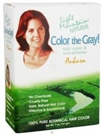Light Mountain Natural - Color The Gray Hair Color & Conditioner Kit Auburn - 7 oz., from category: Personal Care