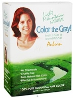 Light Mountain Natural - Color The Gray Hair Color & Conditioner Kit Auburn - 7 oz. by Light Mountain Natural