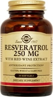 Image of Solgar - Resveratrol With Red Wine Extract 250 mg. - 30 Softgels