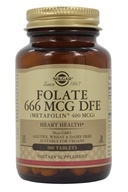 Image of Solgar - Folate As Metafolin 400 mcg. - 100 Tablets