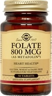 Solgar - Folate As Metafolin 800 mcg. - 50 Tablets