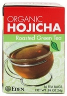 Eden Foods - Organic Hojicha Roasted Green Tea - 16 Tea Bags (024182181456)