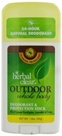 Herbal Clear - Outdoor Whole Body Deodorant & Protection Stick - 1.8 oz.