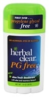 Herbal Clear - PG Free Deodorant Stick with Aloe & Rosemary Lemon - 1.8 oz.