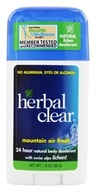 Herbal Clear - Mountain Air Fresh Deodorant Stick with Swiss Alps Lichen - 1.8 oz. (048939010448)