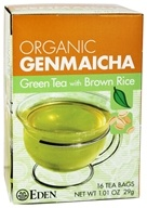 Eden Foods - Organic Genmaicha Green Tea with Brown Rice - 16 Tea Bags (024182181562)