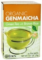 Eden Foods - Organic Genmaicha Green Tea with Brown Rice - 16 Tea Bags