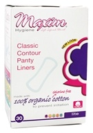 Maxim Hygiene - Organic Cotton Pantiliners Classic Contour For Light Days Unscented - 30 Count (895199001231)