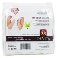 DeVita - Natural Skin Care Try Me Kit For Oily Acne Prone Skin - $12.99