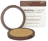 Mineral Fusion - Pressed Powder Foundation Deep 1 - 0.32 oz. CLEARANCED PRICED - $16.67