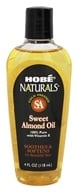 Hobe Labs - Sweet Almond Oil 100% Pure with Vitamin E - 4 oz. by Hobe Labs