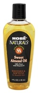Hobe Labs - Sweet Almond Oil 100% Pure with Vitamin E - 4 oz.