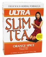 Hobe Labs - Ultra Slim Tea 100% Natural Caffeine Free Orange Spice - 24 Tea Bags by Hobe Labs