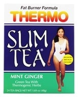 Hobe Labs - Thermo Slim Tea Fat Burner Formula Mint Ginger - 24 Tea Bags by Hobe Labs