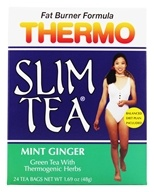 Hobe Labs - Thermo Slim Tea Fat Burner Formula Mint Ginger - 24 Tea Bags