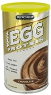 Biochem by Country Life - 100% Egg Protein Powder Chocolate - 15.4 oz.