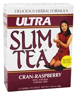 Hobe Labs - Ultra Slim Tea 100% Natural Caffeine Free Cran-Raspberry - 24 Tea Bags by Hobe Labs