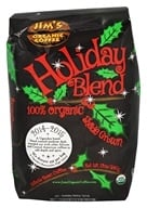 Jim's Organic Coffee - Medium Heavy Roast Holiday Blend - 12 oz., from category: Health Foods