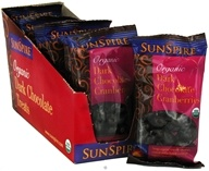 Image of SunSpire - Organic Dark Chocolate Cranberries - 1.19 oz.