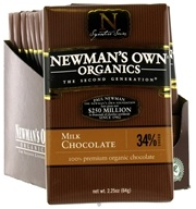 Newman's Own Organics - Chocolate Bar 34% Milk - 2.25 oz., from category: Health Foods