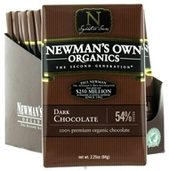 Newman's Own Organics - Chocolate Bar 54% Dark - 2.25 oz. (757645012003)