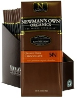 Newman's Own Organics - Chocolate Bar 54% Orange Dark - 3.25 oz.