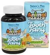 Nature's Plus - Animal Parade Tooth Fairy Children's Probiotic Natural Vanilla Flavor - 90 Chewable Tablets - $16.63