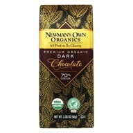 Newman's Own Organics - Chocolate Bar 70% Super Dark - 3.25 oz. (757645013055)